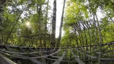 wioska na drzewach - puste platformy