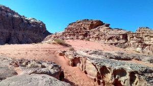 skalne formy na Wadi Rum