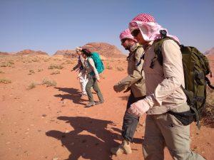 trekking po Wadi Rum