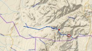 Wadi Fidan - ślad GPS